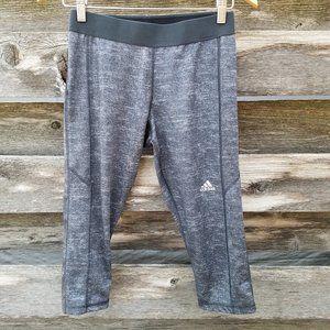 Adidas Techfit Athletic Capri Running Yoga Gray M
